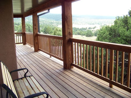 Back Deck at the Wolf Lodge